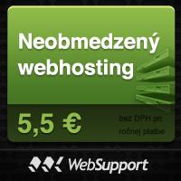 Neobmedzený hosting už od 5,5 Eur od spoločnosti WebSupport.sk